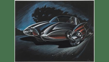 "Elia Russinoff, ""Design Proposal: Two Door Sports Car,"" 1953."